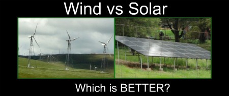 wind power compared to solar panels